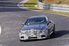 曝奔驰全新AMG C63 Coupe路试谍照 动力将提升
