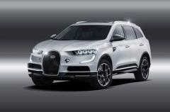 布加迪SUV效果图曝光 造型出众