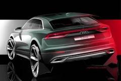 奥迪Q8量产版新预告图 延续概念车风格