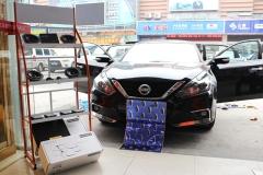 上海澳达龙汽车音响改装日产天籁汽车音响改装丹拿232套装音响要多嗨有多嗨