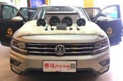 深圳赛电大众途观汽车音响无损安装丹拿V17专车专用喇叭绝妙搭配英雅仕功放