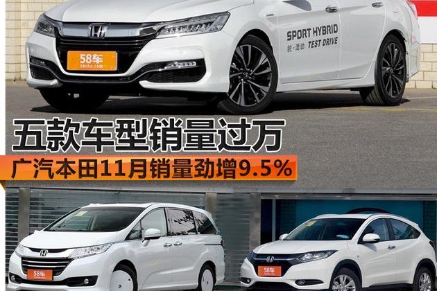 广本11月销量劲增9.5% 多车终端销量过万