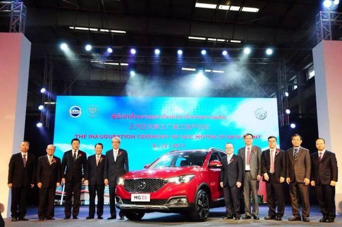 年轻范的国际进击!上汽泰国新工厂投产名爵ZS造就互联网汽车泰热