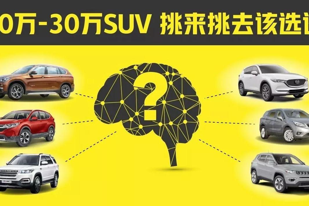 问我爱你有几分  20-30万SUV挑来挑去究竟该选谁?