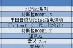 北汽EC系列、知豆D2、宋DM上榜,1-11月全球新能源车累计销量榜出炉