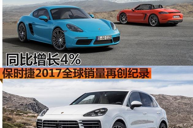 保时捷2017全球销量再创纪录 同比增长4%