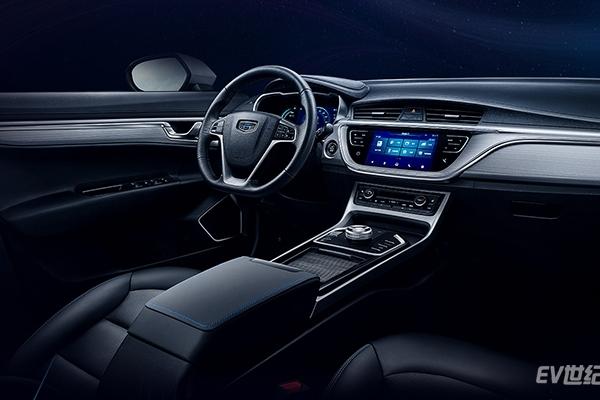 吉利曝光首款纯电动SUV帝豪GSe双大屏内饰官图