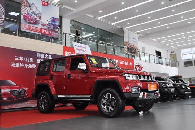 售价15.98万元起 实拍北京BJ40 Plus