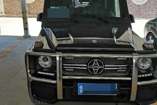 山东牌照的奔驰G改装车,车标像奇瑞,比两辆幻影还贵,国内罕见