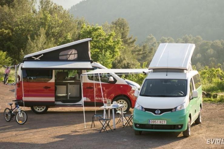 有厨房有床还能跑200公里 日产发布e-NV200露营车