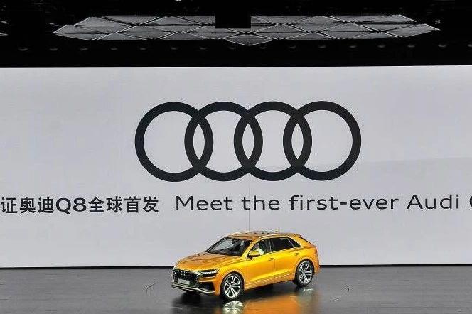 奥迪迈向科技、电动时代,Q8轿跑SUV全球首发