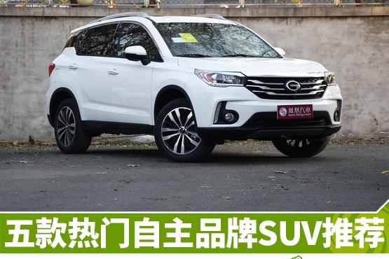 热门自主品牌SUV推荐
