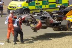 F1英国站FP1:汉密尔顿最快 格罗斯让严重撞车