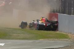 F1英国站二练:维特尔最快 维斯塔潘撞车
