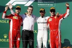 F1匈牙利站汉密尔顿夺冠 法拉利二三