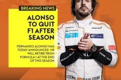 """""""段子手""""终迎告别 阿隆索将不再参加2019年F1比赛"""