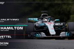 F1比利时站雨水搅局 汉密尔顿夺杆位维特尔第二