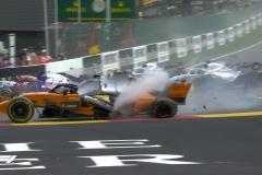 F1比利时站维特尔夺冠 阿隆索首圈飞天退赛