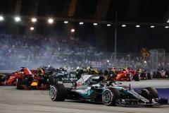 F1新加坡站汉密尔顿Pole to Win 维特尔第三