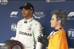 F1日本排位赛雨水搅局:汉密尔顿杆位 维特尔仅第九