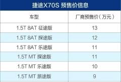 2018广东车展!更加年轻运动的捷途X70s共推6款车型,售价9-13万