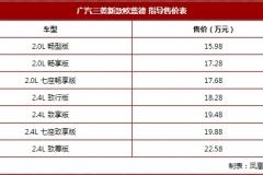 2018广州车展:广汽三菱新款欧蓝德售15.98万起