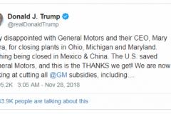 特朗普威胁要取消通用所有补贴、保时捷第八代911在中国启动预售