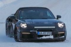 2020款保时捷911 Turbo S敞篷版测试谍照 预计明年3月亮相