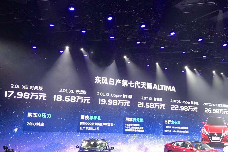 东风日产2020年4款L2级自动驾驶 2022年2款L3级自动驾驶