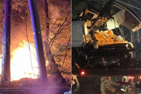 撞树后被拦腰折断 特斯拉Model X再次出现碰撞后起火