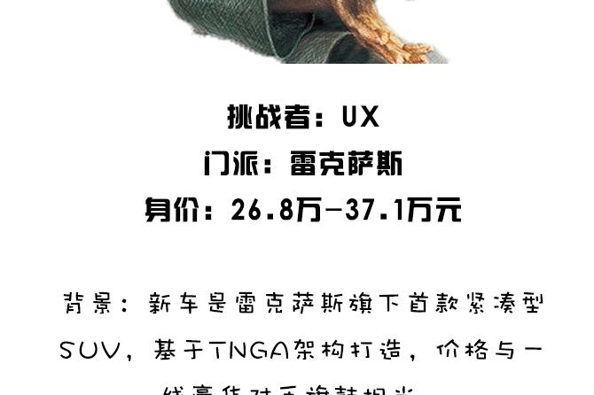 9华山抡剑 | 美系大块头的暖心一面? 雷克萨斯UX对比凯迪拉克XT4