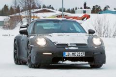 曝全新保时捷911 GT3最新谍照   或 9月亮相/动力更强