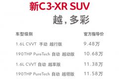 把准年轻人脉搏,新C3-XR 9.48万起售,本田XR-V/逍客还怎么玩?