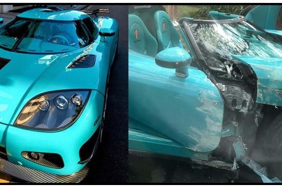 全球唯一一辆科尼赛克CCXR发生事故,这一撞就是上千万!
