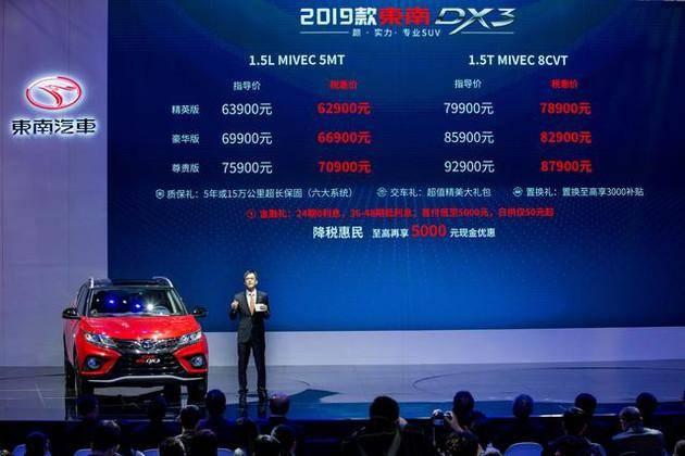 新东南DX3上海车展上市,税惠价6.29万起塑造性价比精品小车