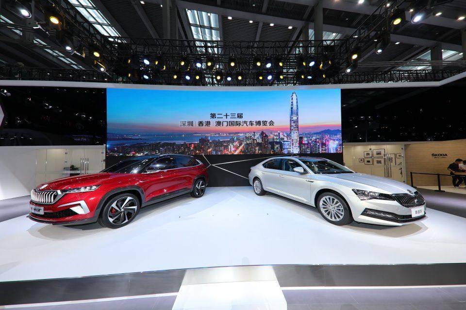 斯柯达新款速派轿车和VISION GT概念车发布亮相