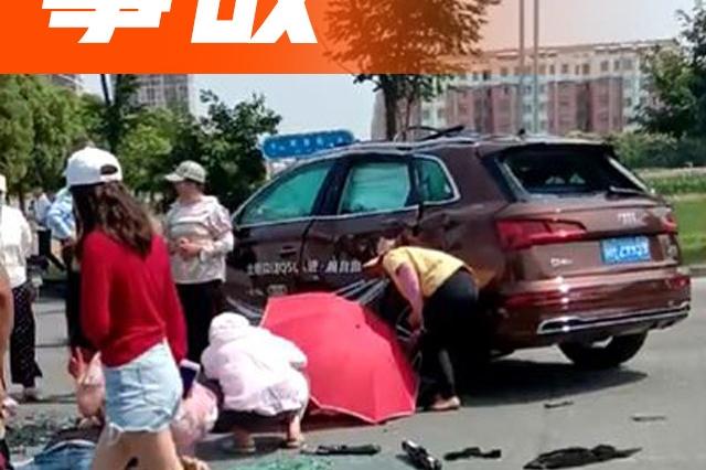 女司机试驾奥迪SUV酿惨剧,孩子、老公被从后排甩出...