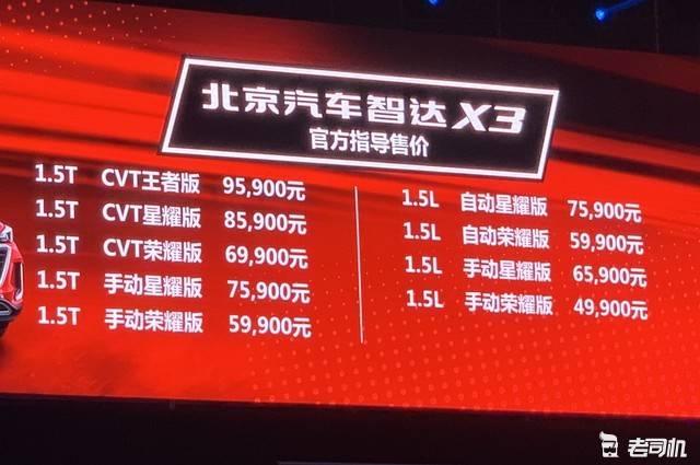 外观时尚的小型SUV 北汽智达X3售4.99万起