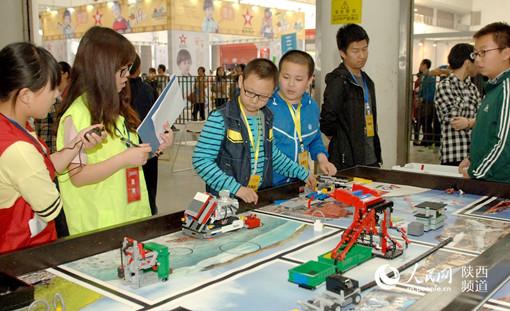 第十六届陕西省青少年机器人竞赛在西安举办
