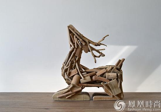 废木头也有第二春 被手艺人玩成了绝美的动物摆件