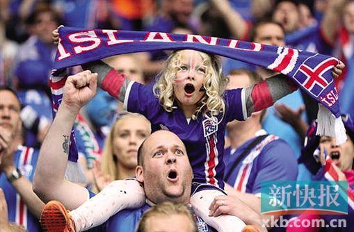 大量冰岛球迷到法国为球队加油.