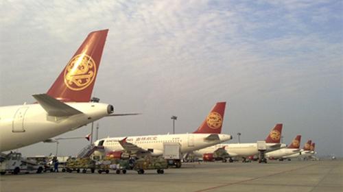 海航hu7041太原至重庆航班在飞机滑行过程中