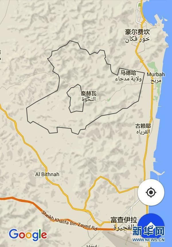 马德哈、奈赫瓦两块飞地在地图的位置(图片由作者提供)