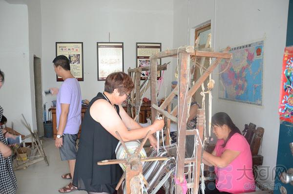 手工纺织粗布项目