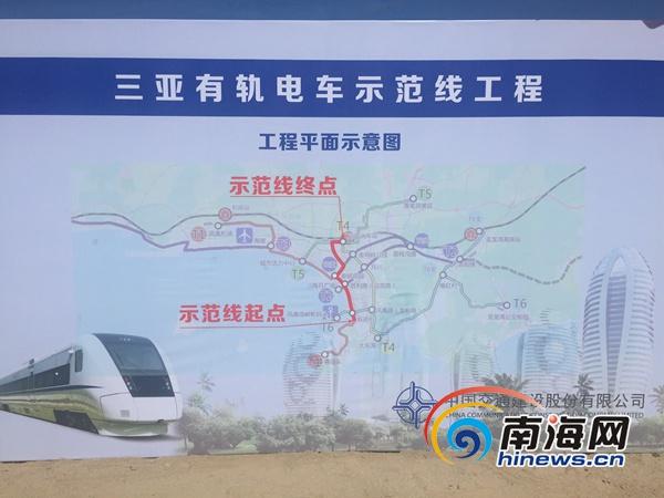 三亚有轨电车示范线示意图。南海网记者 邓松 摄