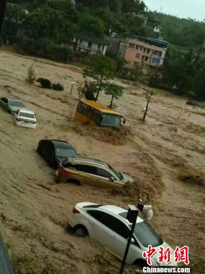 永泰遭受洪灾。 张培奋 摄