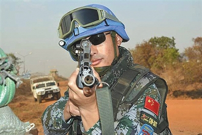 中國南蘇丹維和步兵營 中國維和人員在南蘇丹
