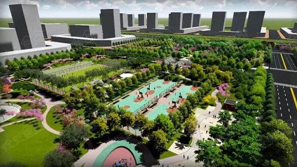 体育公园效果图.-体育公园南区预计10月1日免费开园