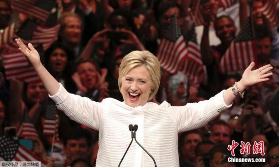 民调:希拉里声势回升 领先特朗普10个百分点