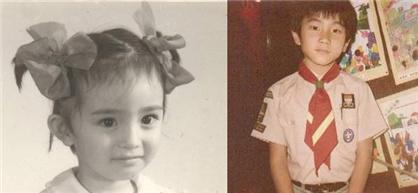 已经有了女儿小糯米,看小糯米更像刘恺威一些的,小时候的刘恺威和杨幂